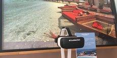 Le casque de réalité virtuelle est un atout dans les pratiques commerciales des vendeurs du Club Med.