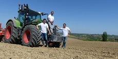 Les trois associés ont investi 30 000 euros dans leur plantation de Montréal-du-Gers.