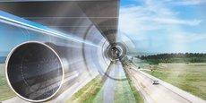 Vision à l'intérieur d'un tube du TransPod