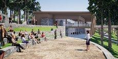 Le nouvel accueil sera plus proche des parkings et relié au parc par une passerelle en bois