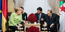 Un rendez-vous qui fera date. La chancelière allemande Angela Merkel a rencontré le président algérien Abdelaziz Bouteflika à Alger le 17 septembre 2018.