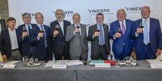 Les organisateurs et collectivités partenaires de Vinexpo