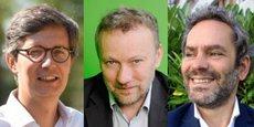 Antoine Garcier, Directeur général Energie d'ici ; Vincent Maillard, Président Plüm Energie ; et Emmanuel Soulias, Directeur général Enercoop