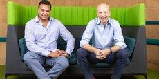 Le fondateur et directeur général de Funding Circle, Samir Desai, et le directeur Royaume-Uni, James Meekings.