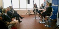 Matinale Women For Future le 2 octobre à la Caisse d'Epargne Languedoc-Roussillon autour d'un débat lancé par Virginie Normand, membre du directoire en charge de la banque de développement régional. Avec elle, Sarah Esteve co-fondatrice et CEO de Jayacode et Françoise Cailler co-fondatrice et CEO de SurgiMab.