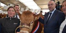 Stéphane Travert, ministre de l'Agriculture et de l'Alimentation, au Sommet de l'élevage.