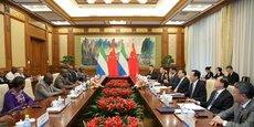 Réunion au sommet entre la Sierra Leone et la chine, présidée par le chef d'Etat sierra léonais, Julius Maada Bio, et le Premier ministre chinois, Li Keqiang, le 2 semptembre 2018 à Beijing.