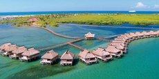 Le Flamingo Bay Water Lodge, une auberge de jeunesse située dans la province d'Inhambane, à 485 km au nord de Maputo, capitale de la Mozambique.