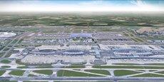 Vue d'artiste du futur T4 de l'aéroport Roissy-Charles de Gaulle