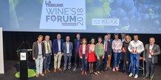 Les lauréats, partenaires et intervenants de la 5e édition de La Tribune Wine's Forum