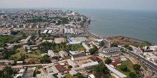 Vue aérienne de Libreville, la capitale gabonaise.