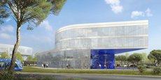 L'Ammonite, futur immeuble de bureaux dans le quartier Odysseum à Montpellier.