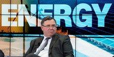 Patrick Pouyanné, le Pdg de Total, en janvier dernier, au Forum économique mondial (WEF, World Economic Forum) de Davos, en Suisse.