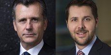 Philipp Hildebrand, vice-président de BlackRock, et Brian Deese, responsable mondial de l'investissement durable du gérant d'actifs, et ex-conseiller climat du président Obama.