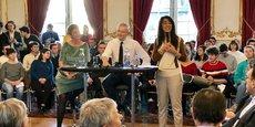 Margrethe Vestager, commissaire européen à la Concurrence, Bruno le Maire, ministre de l'Economie et des Finances et Nawel Rafik-Elmrini, adjointe au maire de Strasbourg, ont animé mardi 23 octobre un débat citoyen sur la compétitivité de l'Europe.