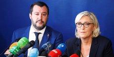 Matteo Salvini, ministre de l'Intérieur italien, et Marine Le Pen, lors d'une conférence de presse commune le 8 octobre dernier.