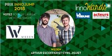 Weden, Arthur Escoffier et Cyril Jiguet, candidat au Prix InnoJump
