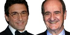 Jean-David Blanc, créateur d'Allociné (à gauche) et Pierre Lescure, ex-PDG de Canal+