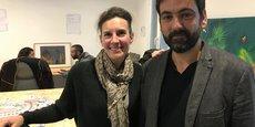 Magali Pagnon, présidente de Nympheas et Nicolas Combis, co-dirigeant d'Agelys qui multiplie les espaces de coworking à Nîmes.