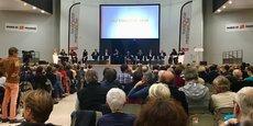 Environ 250 personnes étaient présentes à cette soirée débat sur la future gestion de l'eau au sein de la métropole toulousaine.