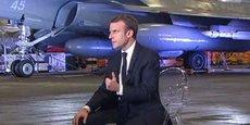 Emmanuel Macron depuis le porte-avions Charles-de-Gaulle