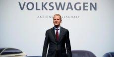 Herbert Diess, le nouveau patron de Volkswagen depuis le 12 avril 2018, lors du 58e congrès annuel de la marque à Berlin, le 3 mai suivant.