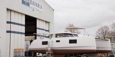 Un des modèles de Bavaria Catamarans en sortie d'usine.