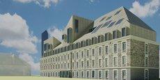 Projet du futur bâtiment de l'Essca, rive droite, à Bordeaux.
