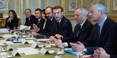 Emmanuel Macron présidant le conseil des ministres, le 27 novembre.