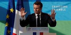 Le président de la République Emmanuel Macron, ce mardi à l'Elysée.