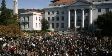 Grève des étudiants sur la Sproul Plaza de l'Université de Californie Berkeley en novembre 2011 /Copyright Reuters