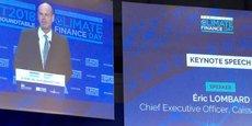 Eric Lombard, le directeur général de la Caisse des dépôts, au Climate Finance Day.