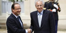 François Hollande et Mario Monti Copyright Reuters
