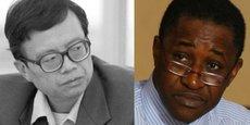 Le chercheur chinois, Li Anshan, directeur du Centre d'études africaines de l'Université de Pékin, et Adama Gaye, économiste sénégalais et auteur de «Chine-Afrique : le dragon et l'autruche» (L'Harmattan ; 2006).