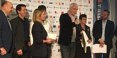 Stéphane Duponchel, co-fondateur de Eco Matelas à Baillargues, reçoit le Trophée FAIRE