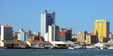 Vue sur Maputo, capitale du Mozambique.