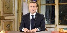 Emmanuel Macron, lors de son allocution télévisée ce lundi 10 décembre.
