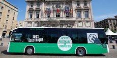 Un bus électrique à Marseille.