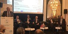 Ouverture du 3ième Forum France-Pays arabes de la CCFA par Vincent Reina, Président, en présence notamment de A. Kassar, ancien-président ICC, Président Fransabank, Abdo Saeed, Président de l'Unbion des Chambres Arabes, et les secrétaires-généraux de la CCFA et de l'Union, Dr. Saleh Al-Tayar et K. Hanafi.