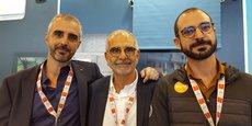 Jonathan, Alain et Oren Laloum, dirigeants de l'entreprise FHE (Perpignan).