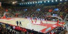 Strasbourg, 17 décembre 2018. Le match SIG-Elan Chalon s'est soldé par la victoire des Strasbourgeois (90-81). En ouverture de la rencontre, Bpifrance a annoncé un accord avec le club pour assurer la promotion de son French Lab Tour.
