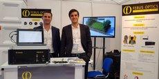 Febus Optics, fondé en 2015 par Etienne Almoric et Vincent Lanticq, est installée au sein de la technopole Hélioparc de Pau.