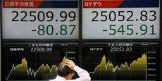 Le Nikkei, l'indice de référence de la Bourse de Tokyo, a perdu plus de 20% depuis son point le plus haut en octobre.