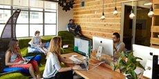 Avec la hausse de la part des travailleurs indépendants, les espaces de coworking sont amenés à se multiplier. Ici, à Galvanize, dans le quartier de Soma à San Francisco.