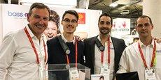 L'équipe de la start-up perpignanaise BassMe, sur le CES 2019.