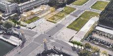 La transformation de l'aérogare des Invalides telle que pensée par le promoteur dans le cadre du deuxième concours Réinventer Paris.