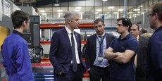Laurent Wauquiez était en visite jeudi 17 janvier chez le sous-traitant aéronautique toulousain Nexteam.