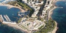Le projet de palace, baptisé Palm Cannes, tel que l'a imaginé l'architecte Richard Martinet.