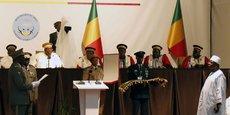 Le président malien, Ibrahim Boubacar Keita, lors de la cérémonie de son investiture à la magistrature suprême.