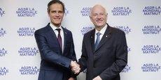 Nicolas Gomart, le directeur général de la Matmut a été nommé directeur général délégué du groupe fusionné, André Renaudin, celui d'AG2R, directeur général.